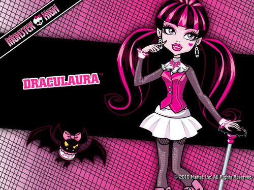 モンスター・ハイ 壁紙 possibly containing アニメ called monster high draculaura