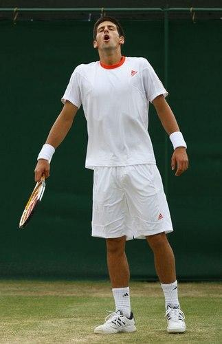 Novak Djokovic wallpaper containing a tennis pro, a tennis player, and a tennis racket called ooopsss...