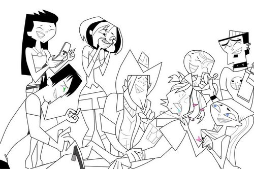 Total Drama Island hình nền probably with anime called the prank line art base