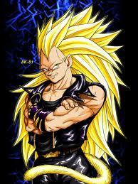 Dragon Ball Z wallpaper containing Anime entitled vageta super saiyan 1000