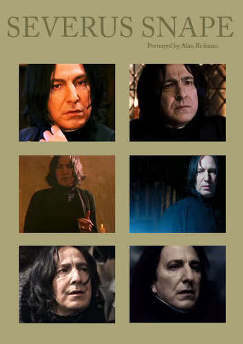 Alan Rickman=Severus Snape