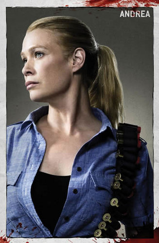 The Walking dead wallpaper containing a portrait titled Andrea