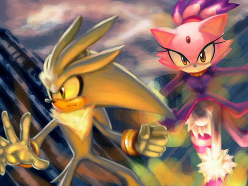 Burning City - sonic-couples Fan Art