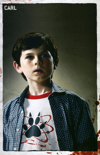 The Walking Dead wallpaper possibly with a sign titled Carl Grimes