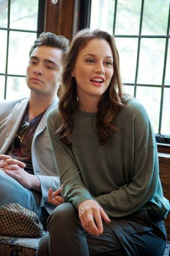 Ed/Leighton - Gossip Girl Set visit 23sept