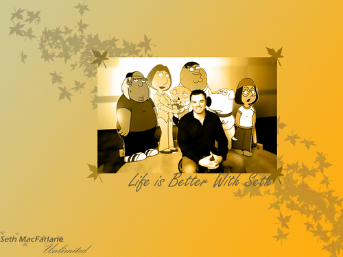 Seth MacFarlane wallpaper probably with a sign and anime entitled Family Guy and creator wallpaper