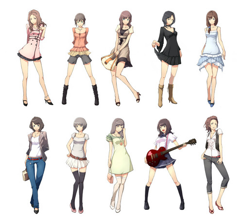 Anime wallpaper entitled Fashion: 10 outfits