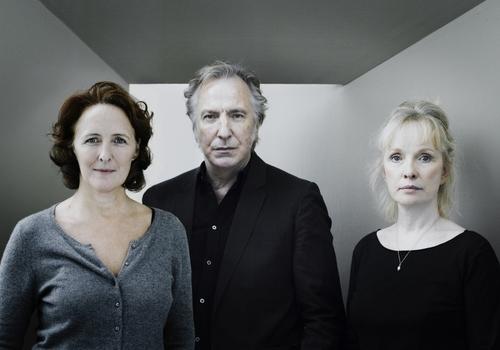 Fiona Shaw, Alan Rickman and Lindsay Duncan