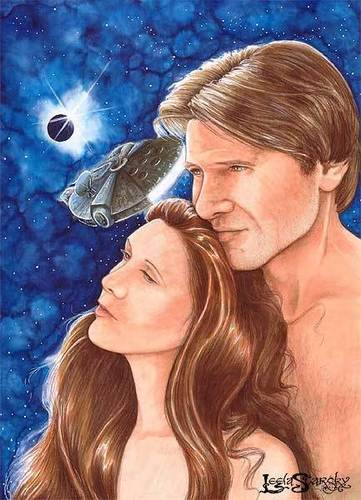 Han and Leia 40 days on the Falcon portrait