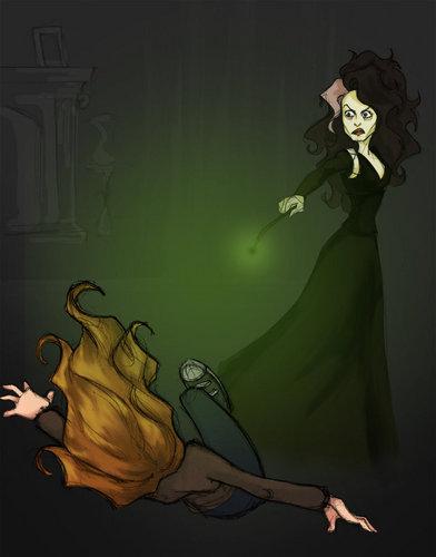 Hermione/Bella crucio fanart
