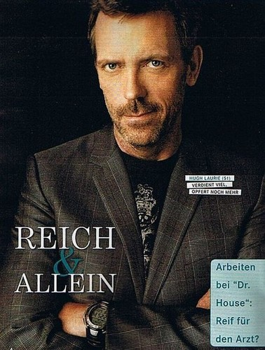 Hugh in a German magazine