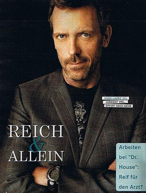 Hugh in a German magazine