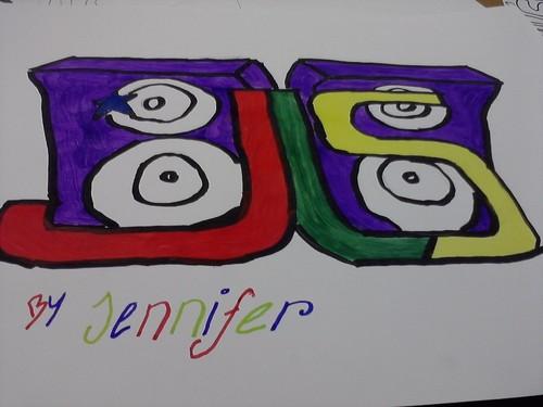 Jennifer Grisdale drawing of jls logo