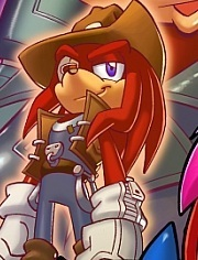 Knuckles the echidna 30 years later!