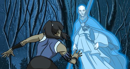 Korra meets Aang (fanart)
