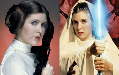 Leia then and now