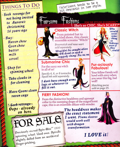 Maleficent achtergrond titled Maleficent's fashion book