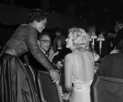 Marilyn with Arthur Miller and Eartha Kitt