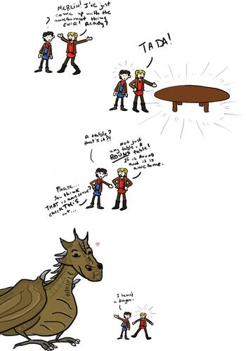 Merlin outdoing Arthur XD