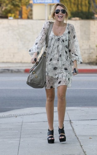 Miley out in Toluca Lake