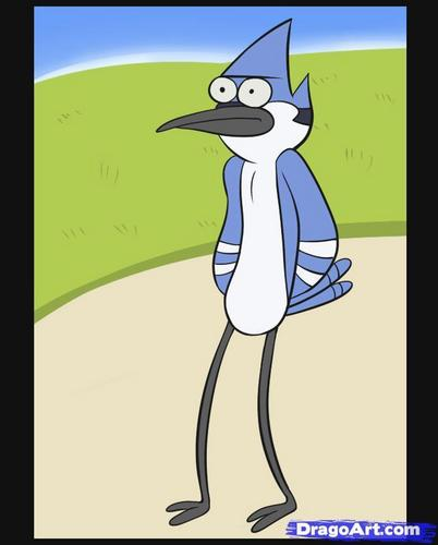 Regular Show wallpaper possibly with anime entitled Mordecai the Gaint blue jay