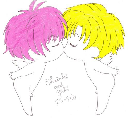 My drawing of Shuichi and Yuki