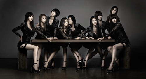 Nine Muses Обои possibly with a концерт titled Nine muses black concept picture