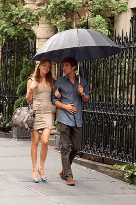 On the set with Chace Crawford