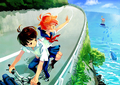 Ponyo & Sousuke growing up together - ponyo-on-the-cliff-by-the-sea photo