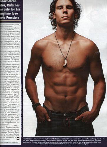 Rafa Nadal sexy bài viết