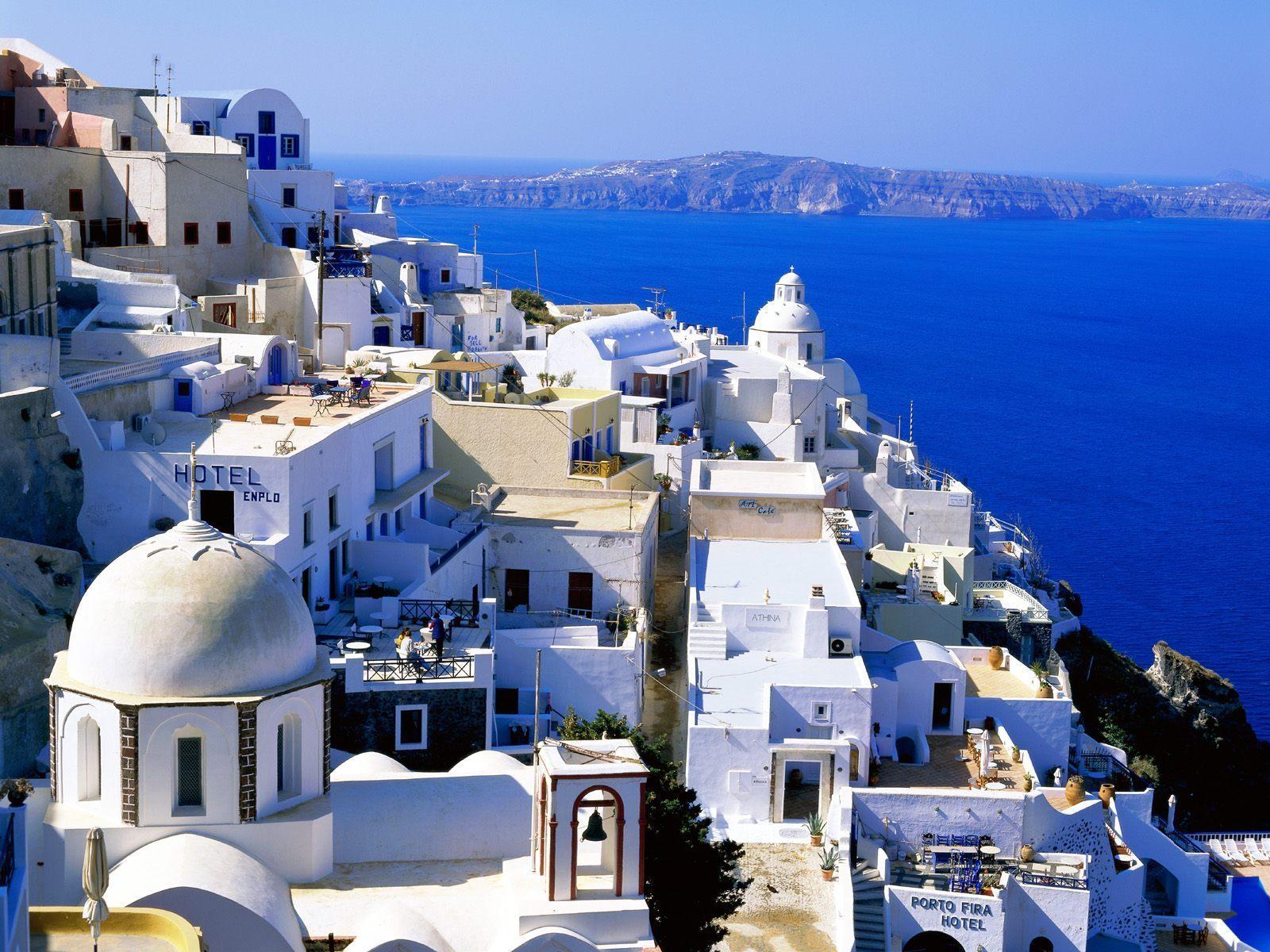 wallpaper santorini greece island - photo #38