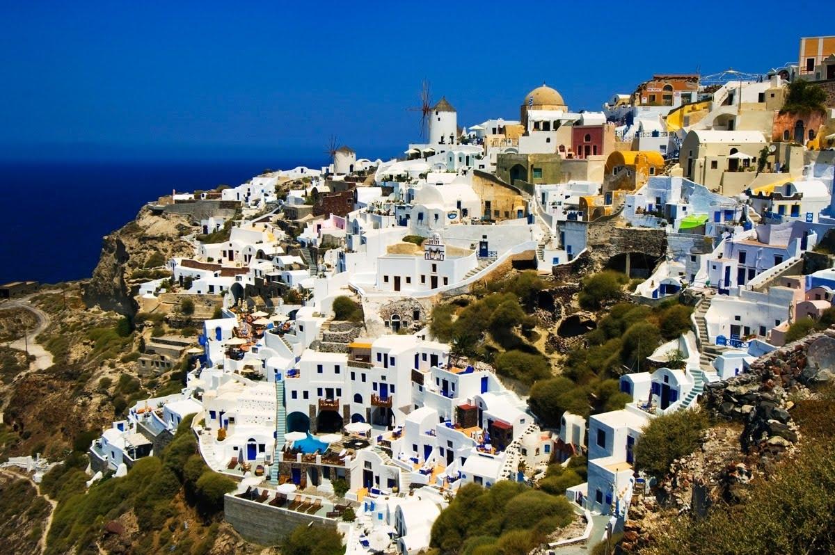wallpaper santorini greece island - photo #43