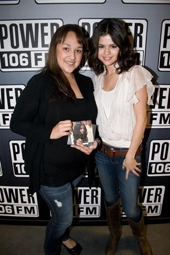 Selena @ power106 FM