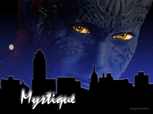 Comic buku wallpaper titled Sexy Mystique from The X-men played oleh Rebecca Romijn