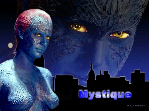 Sexy Mystique from The X-men played par Rebecca Romijn