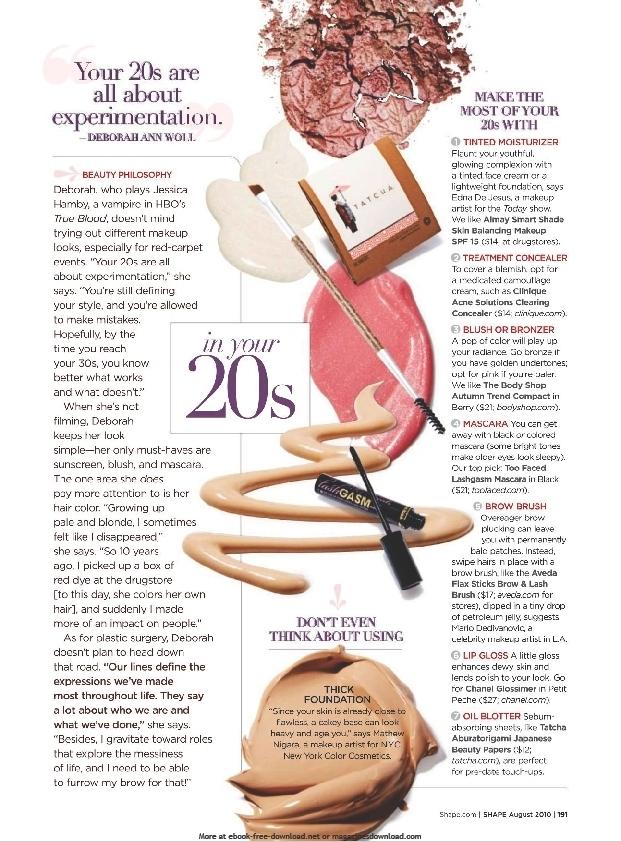 Shape Magazine - August 2010