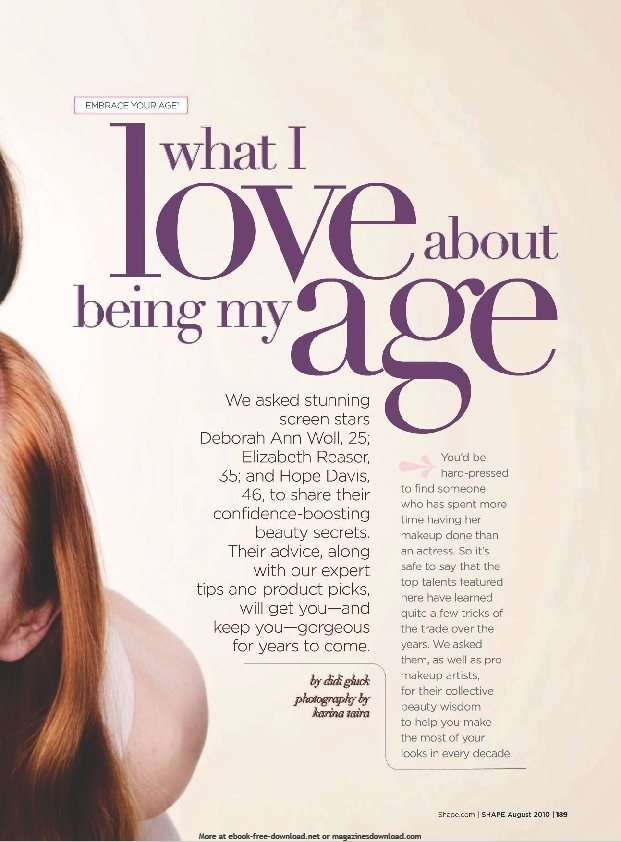 Shape Magazine - August 2010