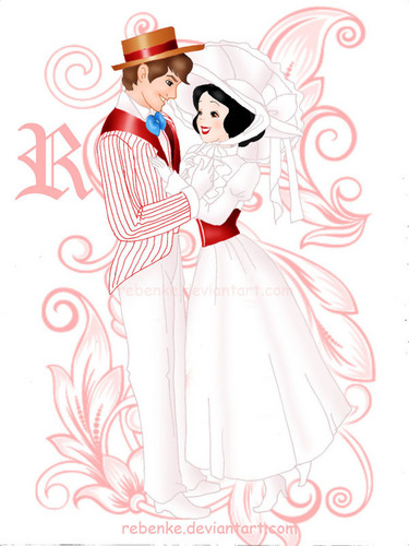 Snow White and Prince as Mary Poppins and Bert