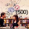 500 Days of Summer foto with a bookshop and an athenaeum titled Tom and Summer