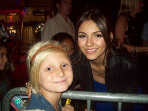 Victoria with a young fan at TCAs 2010