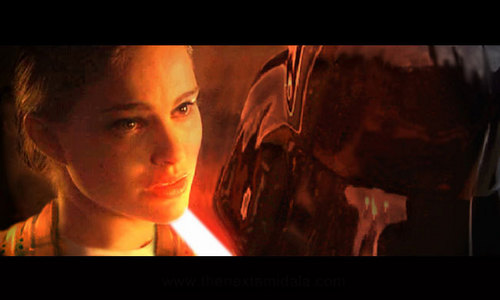 Star Wars wallpaper with a television receiver called What Padme was really married too