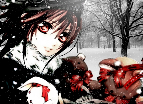Yuuki Cross/Kuran wallpaper possibly containing a snowbank and an igloo called Yuuki