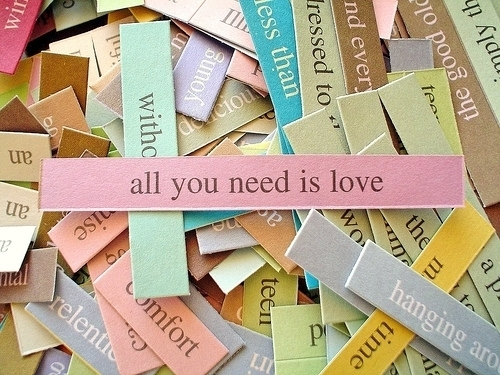 all آپ need is love