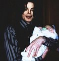 michael with baby blanket