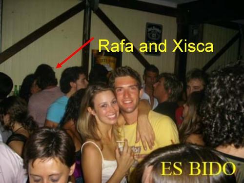 rafa and xisca in bar