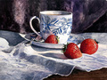 strawberry tea painting