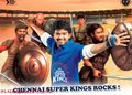 vijay with csk - csk-chennai-super-kings photo