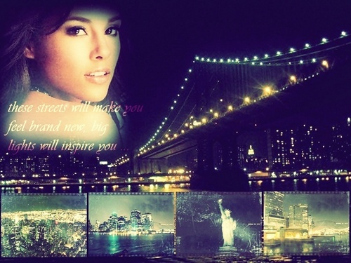 Alicia Keys wallpaper probably with a business district entitled <3