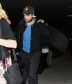 HQ Pics Of Robert Pattinson Arriving Back In LA Last Night   - twilight-series photo