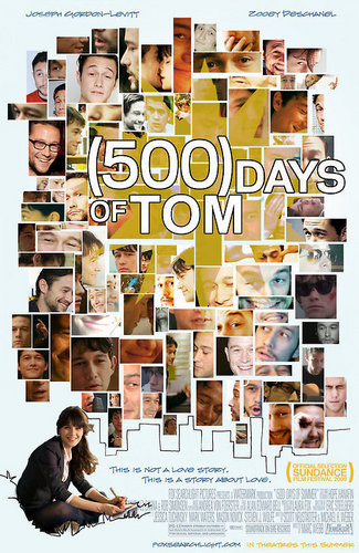 500 Days of Summer wallpaper probably with a sign entitled 500 Days of Tom
